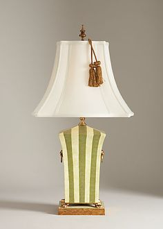 Chelsea House Green And White Striped Table Lamp