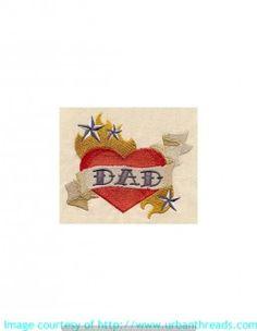 Motive rund um Liebe und Herzschmerz- Stickerei auf Taschen Shirts oder Frottierware. Datei von urbanthreads.com