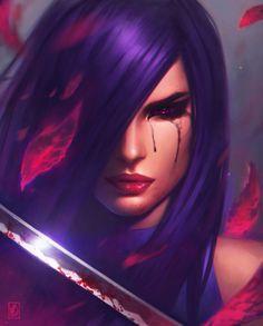 Psylocke 2.0, Milen Dimitrov on ArtStation at https://www.artstation.com/artwork/aOank