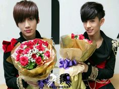 Kwangmin and Minwoo have flowers for Boyfriend Band, Boyfriend Kpop, Jo Youngmin, Korean K Pop, Flowers For You, Starship Entertainment, To My Future Husband, Pop Group, Happy Valentines Day