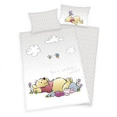 Baby-Renforcé-Bettwäsche Winnie The Pooh - cm RollerRoller Winnie The Pooh, Design Set, Disney World Pictures, Cotton Sheets, Baby Sheets, Linen Bedding, Bed Linen, More Fun, In The Heights