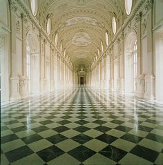 The Reggia di Venaria Reale, in Italy, is an extravagant baroque Royal Palace used as a Savoy residence in the 17th to 18th centuries. Built in the mid-17th century, it's one of the most significant examples of baroque art and architecture in existence and is one of the most beautiful royal residences in Europe. Inside are many beautiful frescoes and original paintings.