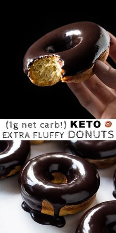 35 Best Low Carb Keto Donut Recipes to Satisfy Your Sweet Tooth Satisfy your sweet tooth while on the keto diet with donuts! These 35 low carb keto donut recipes are the best of the best and they're so easy to make. Low Carb Donut, Low Carb Sweets, Low Carb Keto, Keto Cookies, Keto Donuts, Donuts Donuts, Healthy Donuts, Baked Donuts, Desserts Keto