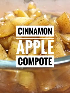 Fruit Compote, Apple Compote Recipe, Apple Recipes, Vegan Recipes, Delicious Desserts, Healthy Apple Desserts, Baked Cinnamon Apples, Snicker Cupcakes, Recipes