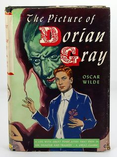 "Cover art for 1944 copy of ""The Picture of Dorain Gray"" by Oscar Wilde"