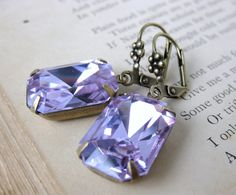 Hey, I found this really awesome Etsy listing at https://www.etsy.com/listing/94192059/vintage-rhinestone-earrings-alexandrite