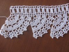 Handmade Lace Shelf Garment Edging in White by angeliquecrafts, $5.00
