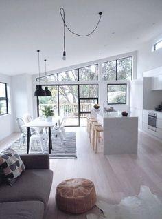 Open kitchen ideas: How to set up a modern kitchen - Kitchen design inspiring kitchen examples - Home Interior, Living Room Interior, Interior Design Kitchen, Living Rooms, Interior Ideas, Kitchen Designs, Home Design, Design Ideas, Design Trends