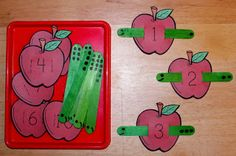 1 - 2 - 3 Learn Curriculum: Apple and Worm Counting Activity