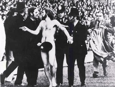 The 1st streaker at a major sporting event in 1974