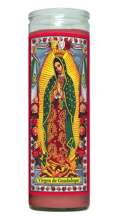 Our Lady of Guadalupe Religious Prayer Candle by ReedCandleCompany