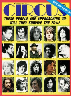 """Circus, Feb. 1970. """"Will they survive the 70th?"""""""