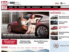 AutoBild - magazine website by Branislav Bajbár