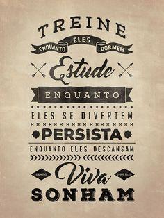 Treine, Estude, Persista - Vintage