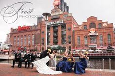 A beautiful wedding party in the Inner Harbor!