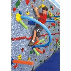 I wonder if we could do something like this on our climbing wall...