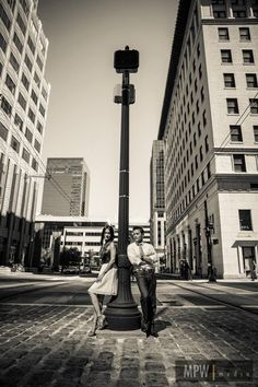 Downtown city. Engagement photo by MPW.
