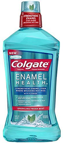Colgate Enamel Health Anticavity Fluoride Sparkling Fresh Mint Mouthwash, 33.8 Ounce - amazon link can choose size of bottle