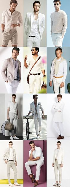 Menswear Collections & Details That Make the Difference Cream Outfits, White Outfits, Casual Outfits, Fashion Outfits, Fashion Ideas, White Outfit For Men, White Pants Outfit Mens, White Pants Men, Cream Pants