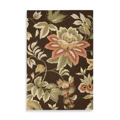 Nourison Fantasy Floral Rug in Chocolate - BedBathandBeyond.com