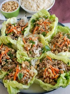 Healthy Recipes : Thai Turkey Brown Rice Lettuce Wraps mix your favorite Asian flavors into a cris. Healthy Cooking, Healthy Dinner Recipes, Healthy Eating, Cooking Recipes, Healthy Dinners, Delicious Recipes, Healthy Suppers, Healthy Food, Tasty Meals