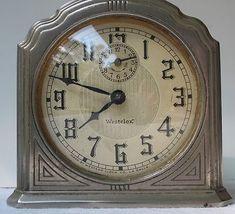 Vintage Westclox Art Deco Alarm Clock