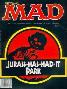 Alfred E Neuman - Jurassic Park - Jurassic Park Parody - October 1993 - 295