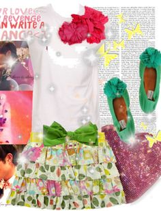 Hot Pink and Green Outfit: LOVE this color combo