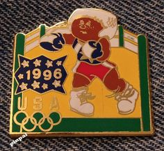 #Boxing #olympic pin #badge~1996 atlanta~#olympic kids~2016 trader in rio,  View more on the LINK: http://www.zeppy.io/product/gb/2/331890264828/