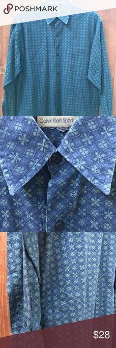 Calvin Klein Sport Dress Shirt Great condition. No size tag but fits like a medium. Calvin Klein Shirts