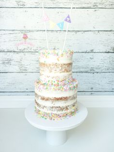 Semi naked sprinkles birthday cake