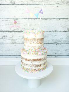 Semi naked sprinkles birthday cake