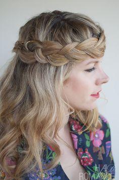 Hair Romance - 30 braids 30 days - 30 - the crown braid