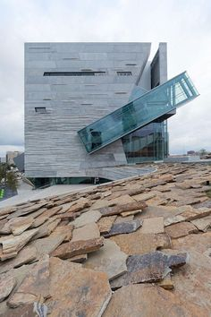 The new Perot Museum of Nature and Science designed by american firm Morphosis in Victory Park... pinned with Pinvolve