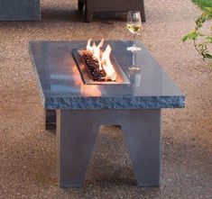outdoor furniture , modern tables made of stone