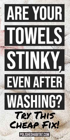 How to Get the Musty Smell Out of Your Towels - Get Rid of that mildew smell for goodsuch a cheap and simple one ingredient fix! musty towels smell how to remove Bathroom Cleaning Hacks, Household Cleaning Tips, Laundry Hacks, House Cleaning Tips, Spring Cleaning, Cleaning Products, Household Products, Cleaning Solutions, Clean Stinky Towels
