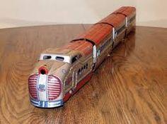 Image result for vintage toy trains on on pinterest