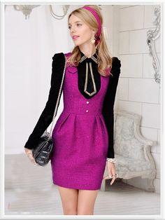 Morpheus Boutique  - Pink Knit V Neck Sleeveless Wool Pencil Dress