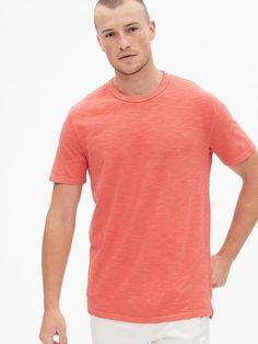15312ad8b11 Gap Men s Vintage Slub Jersey Crewneck T-Shirt Watermelon Ice