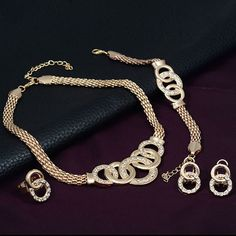 jewelry Accessories Necklace+Earrings+Ring+Bangle Set Wedding Austrian Crystal Design Jewelry Sets H7189 P0.40
