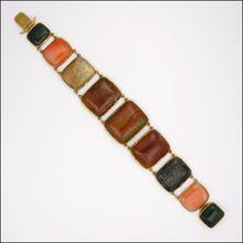 Georgian Scottish Agate Pinchbeck Bracelet