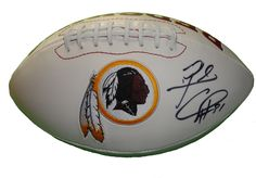 Rock Cartwright signed Washington Redskins logo full size football w/ proof photo.  Proof photo of Rock signing will be included with your purchase along with a COA issued from Southwestconnection-Memorabilia, guaranteeing the item to pass authentication services from PSA/DNA or JSA. Free USPS shipping. www.AutographedwithProof.com is your one stop for autographed collectibles from Washington DC sports teams. Check back with us often, as we are always obtaining new items.