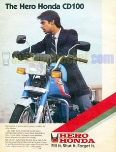 'The' Salman Khan in this advertisement for Hero Honda CD100 from the 1980s :) This is from before he did Maine Pyaar Kiya. Join us at http://www.turtok.com/
