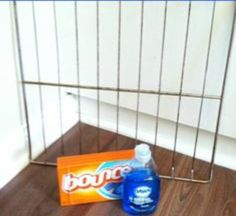 Oven racks cleaned easily! Hot water, dawn, dryer sheets, and a bath tub