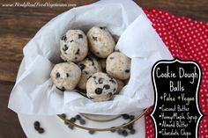 Paleo Cookie Dough Balls - Healy Real Food Vegetarian   Healy Real Food Vegetarian