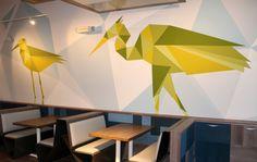Bird Murals - Zizzi Cardiff on Behance