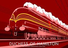 """Duchess of Hamilton"" Posters by Stephen Millership 