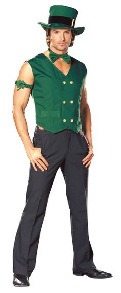 Mens Luck Leprechaun Outfit $39.10 St. Patrick's Day Costumes. http://www.costumeshopper.com/prods/dg4481.html