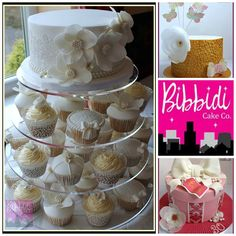 Vintage inspired cake and cupcakes selection by Bibbidi Cake Co