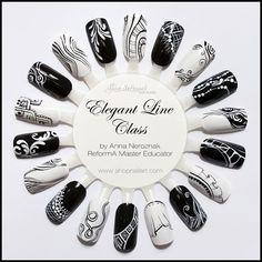 Elegant Line Class - Nail Art Gallery